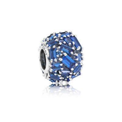 Charm en plata de ley Brillo Delicado Azul