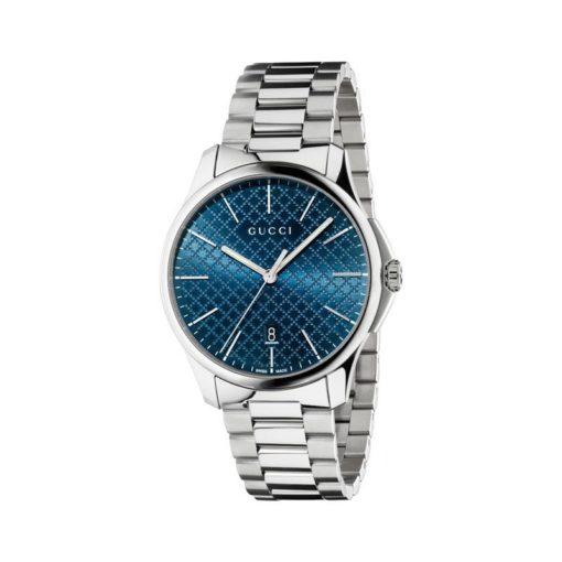 steel case slim/blue diamond pattern dial/steel bracelet