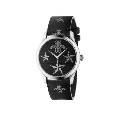steel case / bees & stars floating motif effect dial and strap
