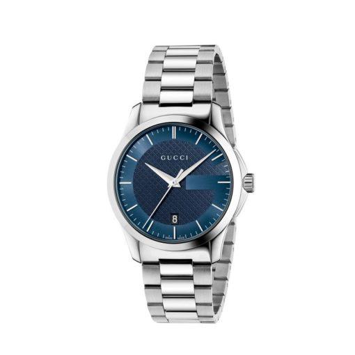 steel case/blue dial/steel bracelet