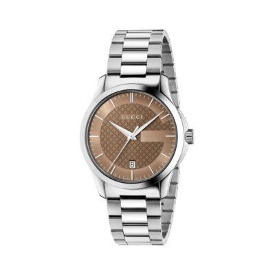 steel case/brown dial/steel bracelet