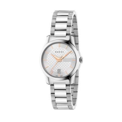 steel case/silver dial/steel bracelet