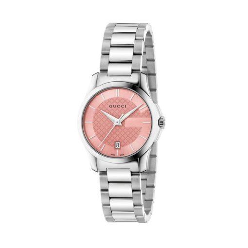 steel case/pink dial/steel bracelet