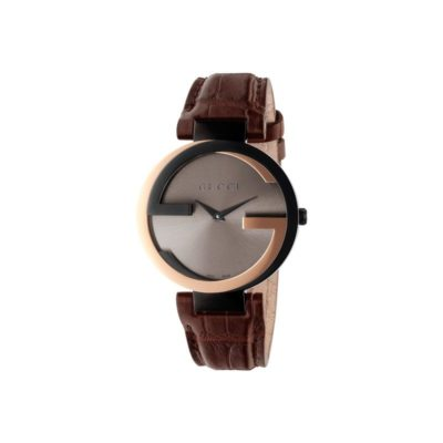18kt pink gold and black pvd case / brown sun-brushed dial / brown crocodile strap
