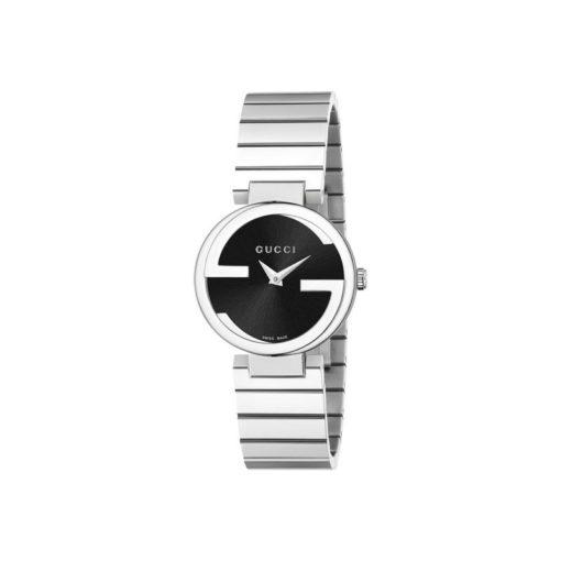 steel case / black sun-brushed dial / steel bracelet