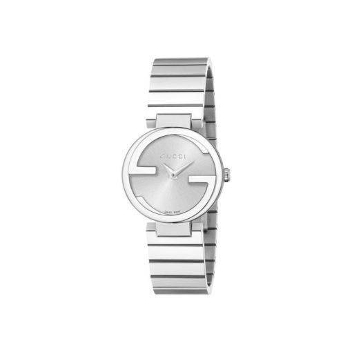 steel case / silver sun-brushed dial / steel bracelet