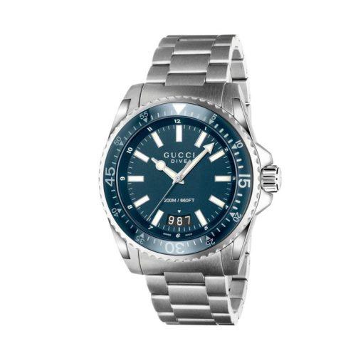 steel case/xl/ blue dial/steel bracelet