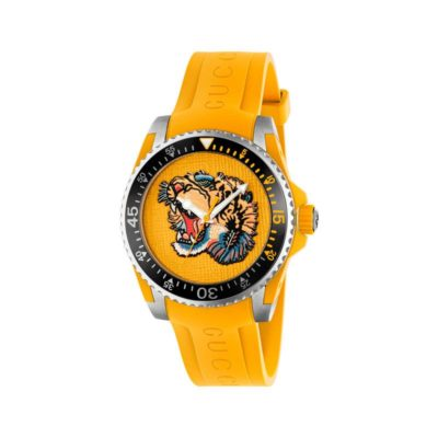 136lg yellow & tiger/steel&rubber/yellow rubber