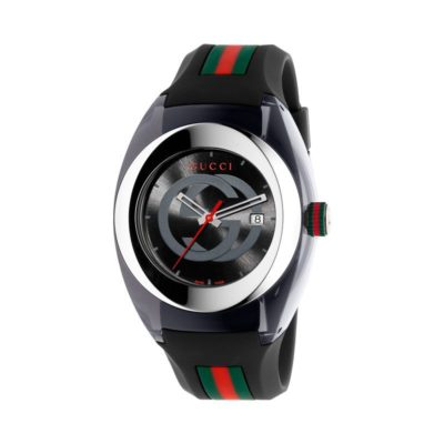 137 xxl/ steel & black nylon case / black gg dial / black rubber strap / green-red-green