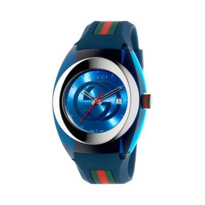 137 xxl/ steel & blue nylon case / blue gg dial / blue rubber strap / green-red-green