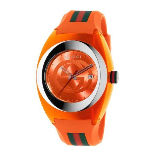 137 xxl/ steel & orange nylon case / orange gg dial / orange rubber strap / green-red-green