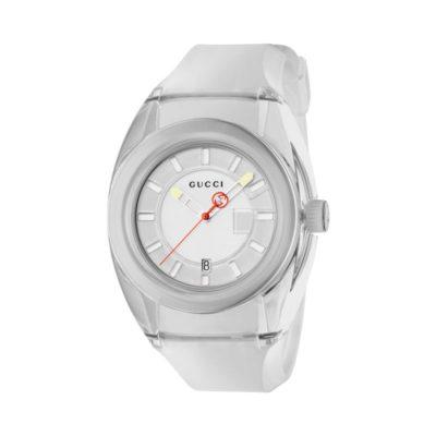 136 xxl transparent white nylon case / white super luminous dial / transparent white rubber strap