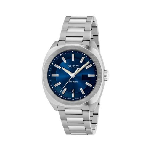 steel case/blue sun-brushed dial/steel bracelet