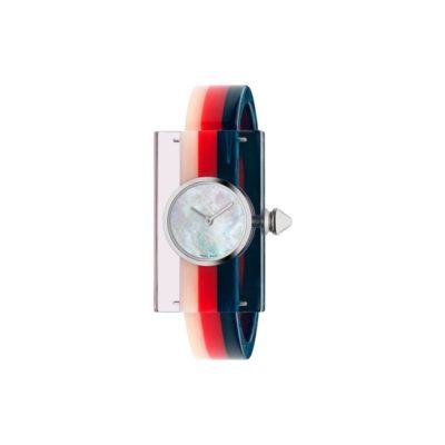 143sm white mop / white - red- blue plexiglas / white - red - blue plexiglas short