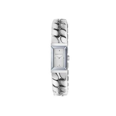 147 sm / steel case / silver mirror dial / steel bracele / gourmette chain design
