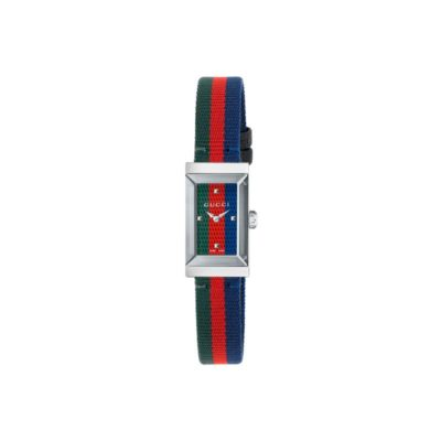 147 sm / steel case / green-red-blue web dial / green-red-blue web nylon strap